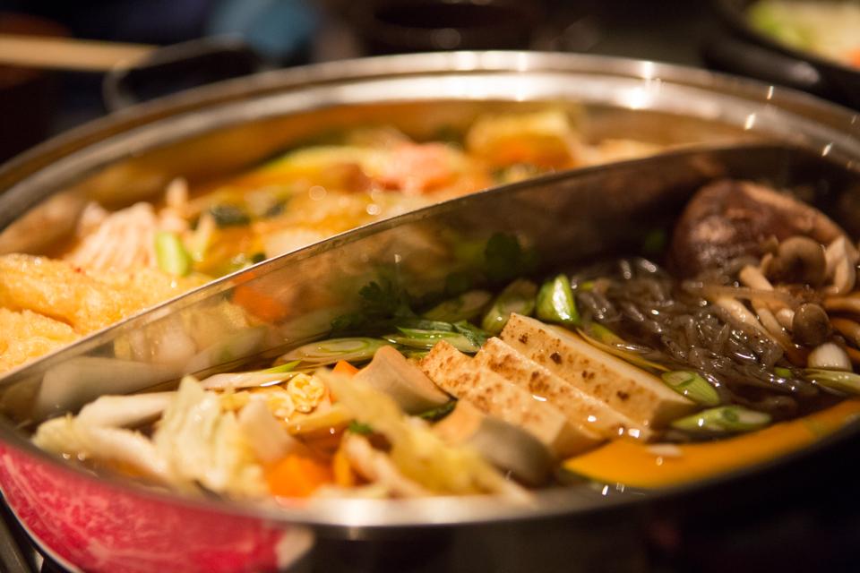 Kimchee and Sukiyaki Hot Pots